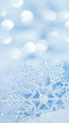 Winter Snowflake iPhone 7 Plus Wallpaper