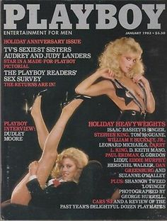 Playboy January 1983 Birthday Gift Present Original Vintage Glamour Adult Entertainment Magazine Audrey Landers and Judy Landers : Playboy January 1983 Birthday Gift Present Original Vintage Glamour Adult Entertainment Magazine Aud Red Aesthetic, Aesthetic Photo, Lander Sisters, Playboy, Shannon Tweed, Isaac Bashevis Singer, Vintage Playmates, Love Cover, Glamour Magazine