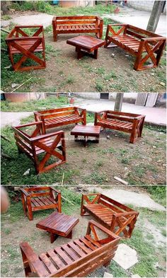 Have you ever thought about adding your garden with the wood pallet furniture? If not, then we are sure after watching this innovative wood pallet furniture concept will force you to add it. This pallet furniture is awesomely designed in simple designs with the placement of benches and also the table work.