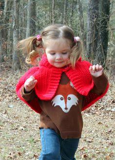 Little Red Riding Hood Cape Free Crochet Pattern