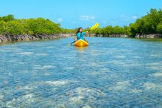 Kayaking on Providenciales, Turks and Caicos Islands.