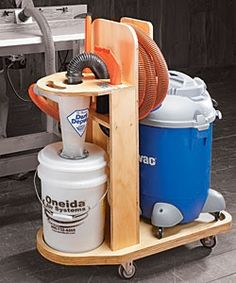 love that it is on wheels!! & a handle for carrying it elsewhere. Mobile Shop Vacuum Station Woodworking Plan $5.95