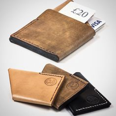 Colville Leather's simple and stylish Card Holder. Carry The essentials without the unnecessary bulk. #leather #cardholder #wallet #handmade #lifestyle #leatherwallet #devon