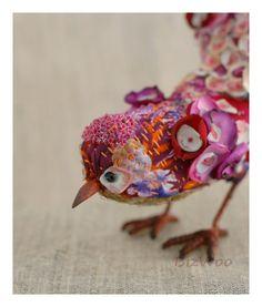 Small decorative bird Boro-Boro di Bizzzness su Etsy