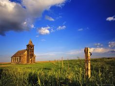 I LOVE little old churches.  The older and smaller the better! (& if they have a cool old graveyard next to them....even better!) This is an old church at Dooley Ghost Town Site, Montana.