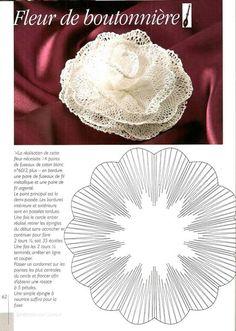 Flor Needle Tatting, Tatting Lace, Needle Lace, Tunisian Crochet Patterns, Bobbin Lace Patterns, Lace Flowers, Crochet Flowers, Bobbin Lacemaking, Lace Art