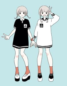 this illustration is so adorable! Character Concept, Character Art, Character Design, Manga Anime, Anime Art, Kawaii Girl, Kawaii Anime, Character Illustration, Illustration Art