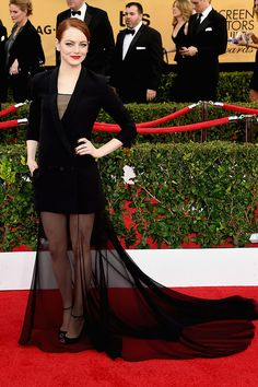 She gets my best dressed award. // Emma Stone Is The Most Flawless Person At The SAG Awards