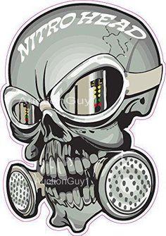 Nitro Head Skull trailer Window Decal Decals Sticker NHRA Drag Racing top fuel by SuperbDecalsLLC on Etsy Gas Mask Drawing, Gas Mask Art, Masks Art, Skull Stencil, Skull Art, Graffiti Lettering, Graffiti Art, Gas Mask Tattoo, Racing Tattoos