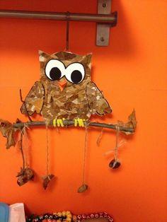 [교실꾸미기] 자연물로 숲 교실 꾸미기 따란- 미소쌤 등장!! 와~ 오늘 날씨 진짜 덥더라구요!! 더운 여름이... Fall Arts And Crafts, Autumn Crafts, Fall Crafts For Kids, Autumn Art, Nature Crafts, Autumn Theme, Diy For Kids, Owl Crafts, Crafts To Do