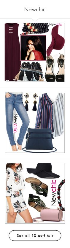 """""""Newchic"""" by fatimka-becirovic ❤ liked on Polyvore featuring plus size clothing and Ekphero"""
