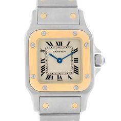 3514X Cartier Santos Galbee Ladies Steel Yellow Gold Quartz Watch W20012C4 SwissWatchExpo