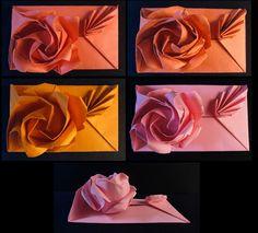 Origami rose envelope the forgotten art of doing things yourself origami rose envelope the forgotten art of doing things yourself pinterest origami envelopes and origami envelope mightylinksfo