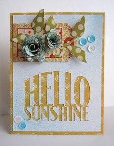 Hello Sunshine card w/ how-to