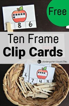 free ten frame clip cards - The Kindergarten Connection