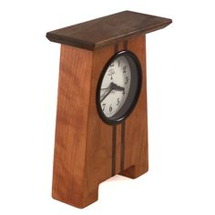 Craftsman Desk Clock handmade in North Carolina from Sabbath-Day Woods.