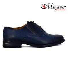 Pantofi dama din piele - Caspian Sea - Model: Mania Albastru