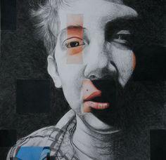 fragmented faces & website of student portraits Uni Project Research Charcoal Artists, High School Art Projects, Art Assignments, Ap Studio Art, Elements Of Art, Teaching Art, Art Studios, Collage Art, Art Lessons