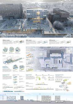 Zukünftiger Fusion-Designwettbewerb der Seoul Metropolitan University _WebDRM[i... Office Building Architecture, University Architecture, Brick Architecture, Architecture Drawings, Presentation Board Design, Architecture Presentation Board, Hospital Design, Seoul, Exterior Design