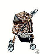 Classic Leopard Skin 4 Wheel Pet Stroller - http://www.thepuppy.org/classic-leopard-skin-4-wheel-pet-stroller-2/