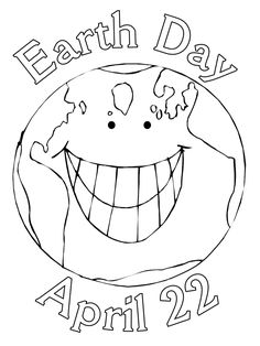 Earth Day Coloring Page: Earth Day - Free printable Earth Day and Ecology coloring pages for kids from PrimaryGames. www.primarygames.com #earthdayactivties