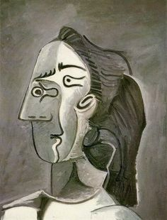"Pablo Picasso - ""Head of a Woman (Jacqueline)"", 1962"