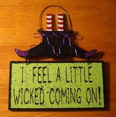 Odd halloween decorations | Funny Halloween Witch Decor Sign!