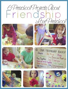 6 Friendship Projects for Preschoolers! Like the friendship rules. Friendship Theme Preschool, Teaching Friendship, Friendship Rules, Friendship Crafts, Friendship Lessons, Preschool Lesson Plans, Preschool Classroom, Classroom Themes, Preschool Crafts