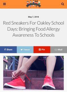 Red Sneakers For Oakley School Days: Bringing Food Allergy Awareness To Schools