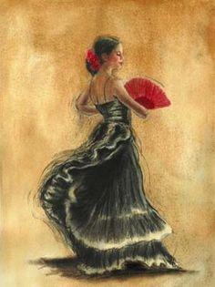 Stunning spanish style dancer