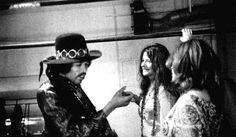 Jimi Hendrix and Janis Joplin, San Francisco, February 1968.