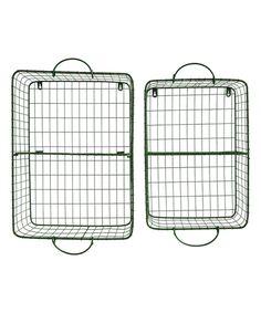 Wire Wall Basket Shelf - Set of Two by Creative Co-Op #zulily #zulilyfinds