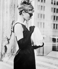 Ah, that icon Audrey Hepburn in the most famous little black dress in history ~ 1961