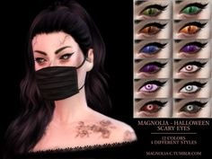 The Sims Resource: Halloween Scary Eyes by magnolia-cc • Sims 4 Downloads