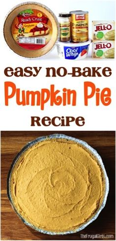 Best No Bake Pumpkin Pie Easy Recipe! This decadent and delicious dessert is so … Best No Bake Pumpkin Pie Easy Recipe! This decadent and delicious dessert is so simple and the perfect addition to your Fall parties and Thanksgiving desserts! Pumpkin Chiffon Pie, No Bake Pumpkin Pie, Baked Pumpkin, Pumpkin Dessert, Pie Dessert, Pumpkin Cheesecake, Pumpkin Spice, Cheesecake Pie, Pumpkin Bread