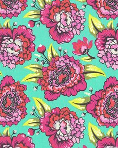 Tula Pink - Elizabeth - Astraea Floral - Quilt Fabrics from www.eQuilter.com