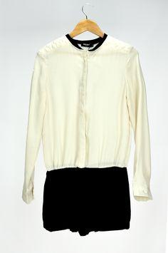 #jumpsuit#playsuit#partywear#casualwear#winterwear#summerwear#longsleevemonochromedress#blackandwhitedress.