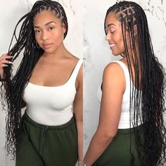 Small goddess braids by Two Goddess Braids, Goddess Braid Styles, Goddess Twist, Natural Hair Braids, Braids With Curls, Twist Braids, Havana Twists, Dutch Braids, Black Girl Braids