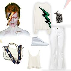 Channel your inner starman and ELECTRIFY your wardrobe---AMP up your closet with VIVID WHITES that are OUT of this WORLD! #chanluu #zadigandVoltaire #CurrentElliott #carriedaway #elizabethandjames #superga #starman