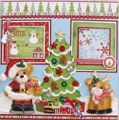 Christmas Santa Boy Tear Bear Premade Scrapbook Pages Paper Piecing Craftyemg | eBay