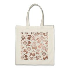 Modern faux rose gold dreamcatcher feathers marble tote bag