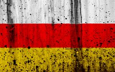 Download wallpapers South Ossetia flag, 4k, grunge, flag of South Ossetia, Asia, South Ossetia, national symbols, South Ossetia national flag