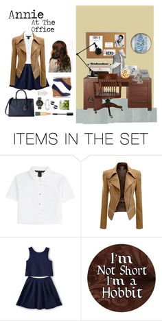 """""""Annie At The Office"""" by acadia697 ❤ liked on Polyvore featuring art"""