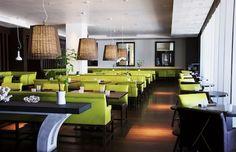 Steak 954 - Modern Beach View Restaurant in Fort Lauderdale Outside Seating Area, Fort Lauderdale, Restaurant Design, Steak, Miami, Beach, Modern, Table, Posts