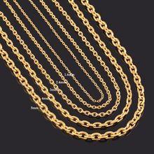 Largura 1.6mm/2.4mm/3mm/4mm/5mm Cadeia De Rolo de Aço Inoxidável Em Cor do ouro de Alta Qualidade Charme Elo Da Cadeia Colar de Pingente Atacado(China (Mainland))
