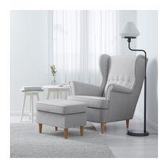 STRANDMON Ørelappstol - Nordvalla lys grå - IKEA