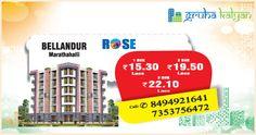 GruhaKalyan ROSE at Marathahalli/Bellandur 1, 2 and 3 BHK Flats/Apartments Available Price Starts From 15.30 Lacs On Wards.