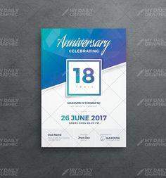 Company Anniversary Invitation Template Company Anniversary, Mobile Project, Anniversary Invitations, Graphic Design Templates, Corporate Design, Brochure Template, Names, Blog