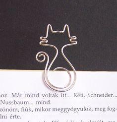 So cute    Mirr-Murr - cat wire bookmark. $6.50, via Etsy.