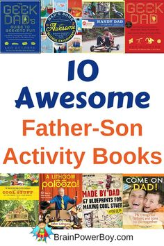 Great for Father's Day or any time of the year these Father-Son Activity Books are all winners. Give to dads and their boys for plenty of fun ways to spend time together.